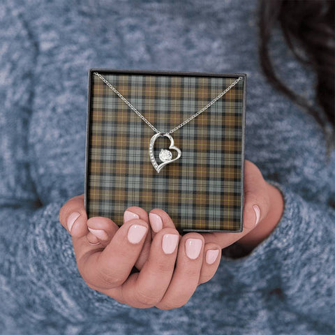 Gordon Weathered Tartan Necklace - Forever Love Necklace A7