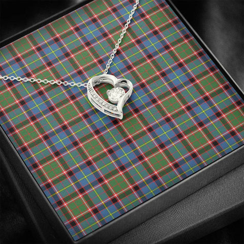 Image of Stirling & Bannockburn District Tartan Necklace - Forever Love Necklace A7
