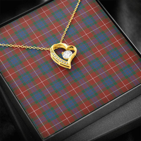 Fraser Ancient Tartan Necklace - Forever Love Necklace A7