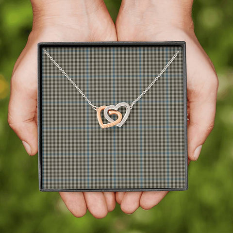 Haig Check Tartan Necklace - Interlocking Hearts A7