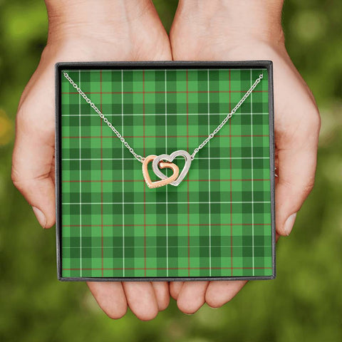Image of Galloway District Tartan Necklace - Interlocking Hearts A7