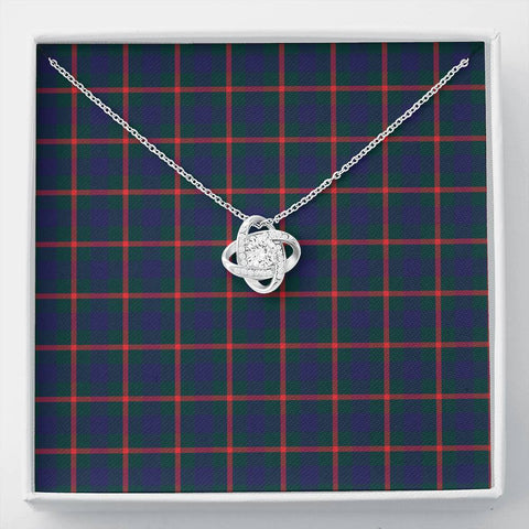 Image of Agnew Modern Tartan Necklace - The Love Knot A7