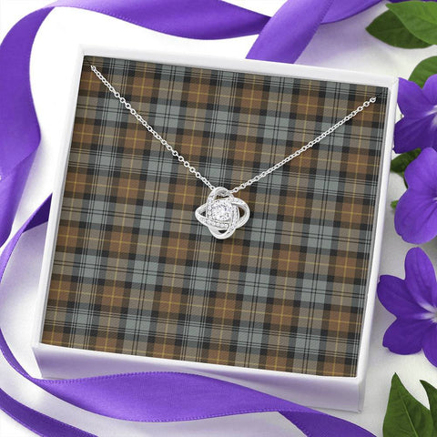 Gordon Weathered Tartan Necklace - The Love Knot A7