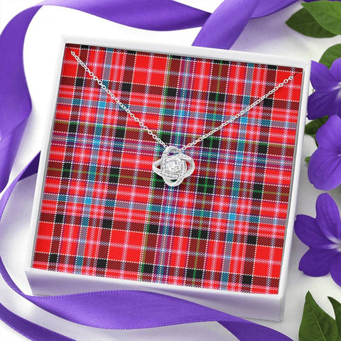 Image of Aberdeen District Tartan Necklace - The Love Knot A7