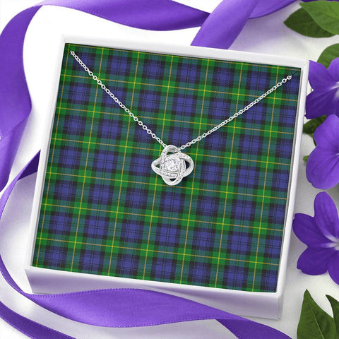 Image of Gordon Modern Tartan Necklace - The Love Knot A7