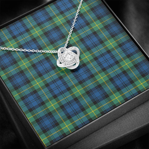 Gordon Ancient Tartan Necklace - The Love Knot A7