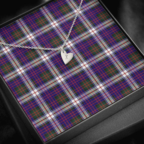 MacDonald Dress Modern Tartan Necklace - Sweetest Hearts Necklace | Over 500 Tartans | Made in USA | Fast Shipping