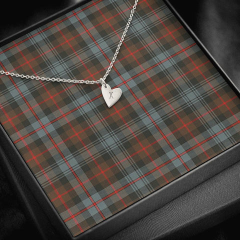Murray of Atholl Weathered Tartan Necklace - Sweetest Hearts Necklace | Over 500 Tartans | Made in USA | Fast Shipping