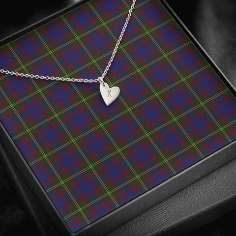 Durie Tartan Necklace - Sweetest Hearts Necklace | Over 500 Tartans | Made in USA | Fast Shipping