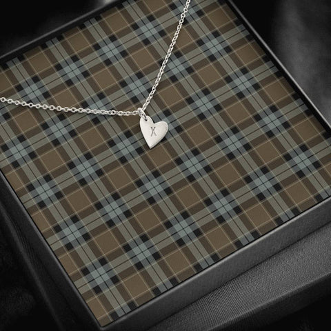 Graham of Menteith Weathered Tartan Necklace - Sweetest Hearts Necklace | Over 500 Tartans | Made in USA | Fast Shipping