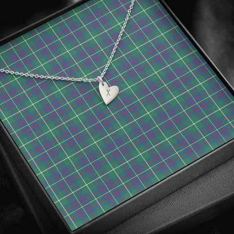 Inglis Ancient Tartan Necklace - Sweetest Hearts Necklace | Over 500 Tartans | Made in USA | Fast Shipping