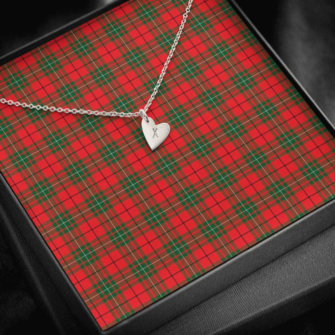 Image of MacAulay Modern Tartan Necklace - Sweetest Hearts Necklace | Over 500 Tartans | Made in USA | Fast Shipping