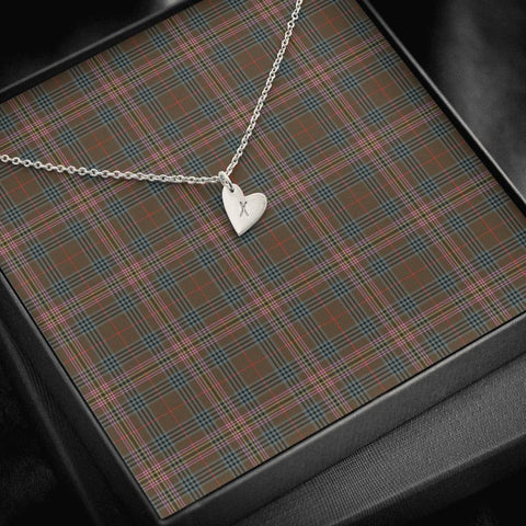 Kennedy Weathered Tartan Necklace - Sweetest Hearts Necklace | Over 500 Tartans | Made in USA | Fast Shipping