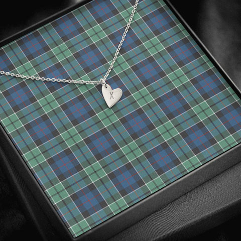 Leslie Hunting Ancient Tartan Necklace - Sweetest Hearts Necklace | Over 500 Tartans | Made in USA | Fast Shipping