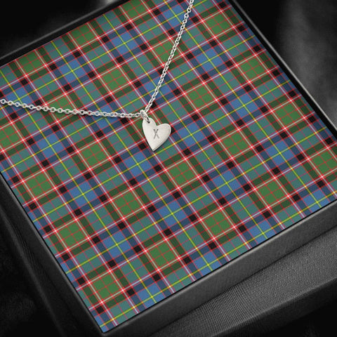Stirling & Bannockburn District Tartan Necklace - Sweetest Hearts Necklace | Over 500 Tartans | Made in USA | Fast Shipping