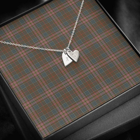 Image of ScottishClans Kennedy Weathered Tartan Necklace - Sweetest Hearts Necklace A7