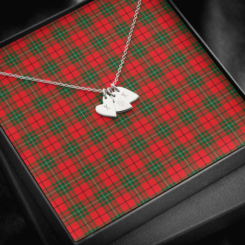 ScottishClans MacAulay Modern Tartan Necklace - Sweetest Hearts Necklace A7