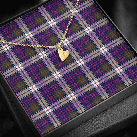 Image of ScottishClans MacDonald Dress Modern Tartan Necklace - Sweetest Hearts Necklace A7