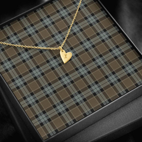 ScottishClans Graham of Menteith Weathered Tartan Necklace - Sweetest Hearts Necklace A7