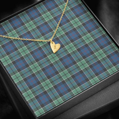 ScottishClans Leslie Hunting Ancient Tartan Necklace - Sweetest Hearts Necklace A7