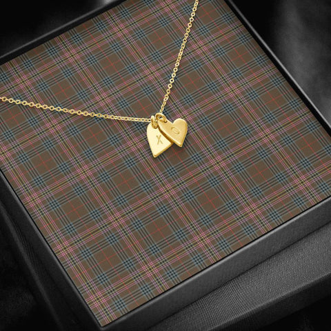 ScottishClans Kennedy Weathered Tartan Necklace - Sweetest Hearts Necklace A7