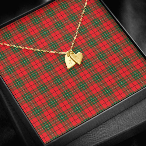 Image of ScottishClans MacAulay Modern Tartan Necklace - Sweetest Hearts Necklace A7