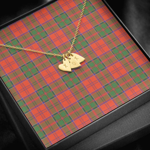 ScottishClans Grant Ancient Tartan Necklace - Sweetest Hearts Necklace A7