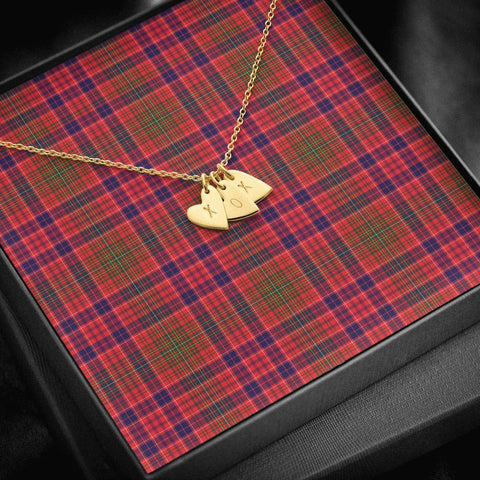 ScottishClans Lumsden Modern Tartan Necklace - Sweetest Hearts Necklace A7
