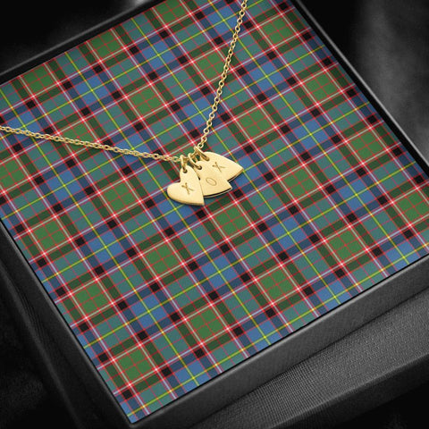 ScottishClans Stirling & Bannockburn District Tartan Necklace - Sweetest Hearts Necklace A7