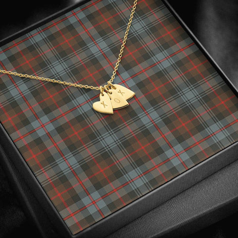 ScottishClans Murray of Atholl Weathered Tartan Necklace - Sweetest Hearts Necklace A7