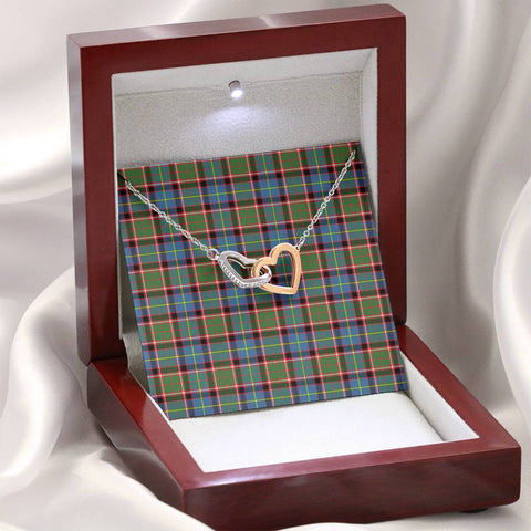 Stirling & Bannockburn District Tartan Necklace - Interlocking Hearts A7