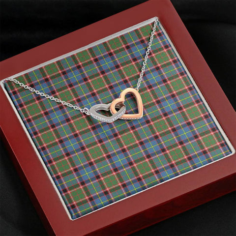 Image of Stirling & Bannockburn District Tartan Necklace - Interlocking Hearts A7