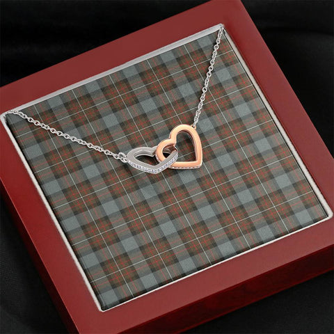 Image of Fergusson Weathered Tartan Necklace - Interlocking Hearts A7