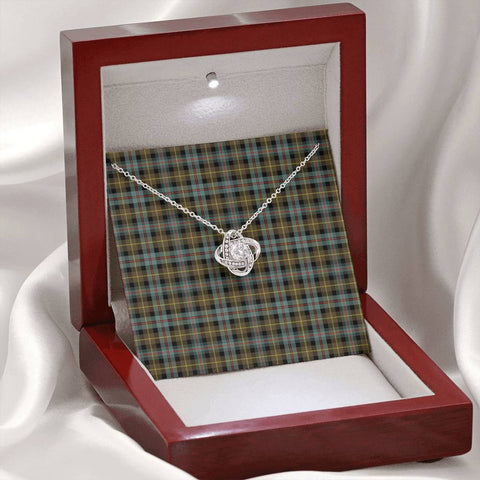 Farquharson Weathered Tartan Necklace - The Love Knot A7