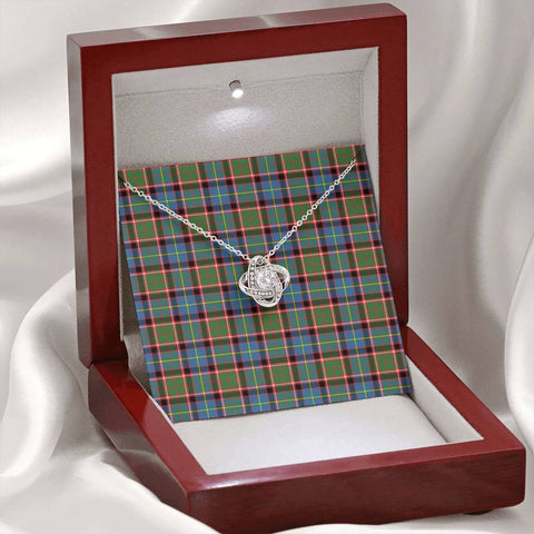 Stirling & Bannockburn District Tartan Necklace - The Love Knot A7