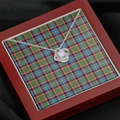 Image of Stirling & Bannockburn District Tartan Necklace - The Love Knot A7