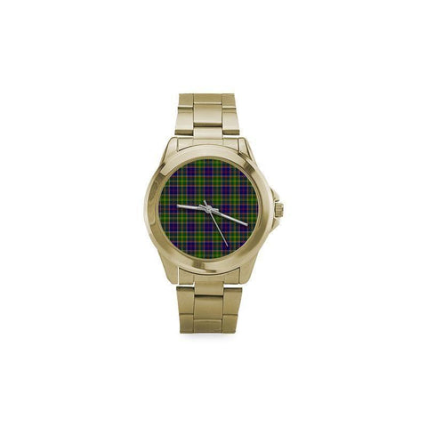 Image of Ayrshire District Tartan Custom Gilt Watch S8 One Size / Custom Gilt Watch Steel Watches