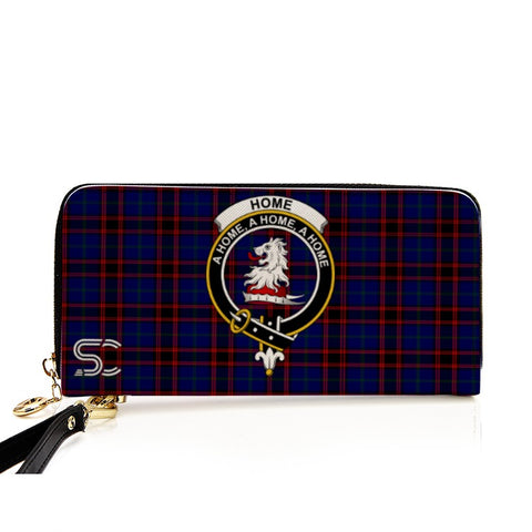 Home Modern Crest Tartan Zipper Wallet