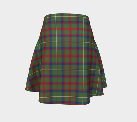 Tartan Flared Skirt - Shaw Green Modern |Over 500 Tartans | Special Custom Design | Love Scotland
