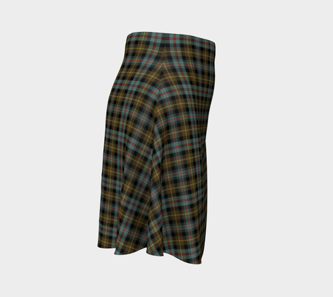 Image of Tartan Flared Skirt - Farquharson Weathered A9