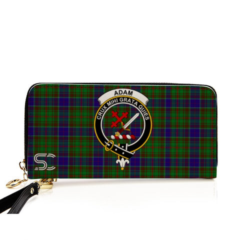 Adam Crest Tartan Zipper Wallet