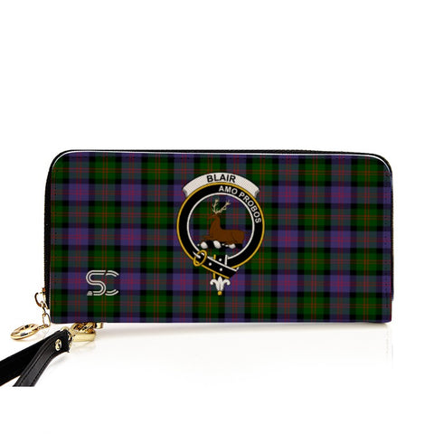 Blair Modern Crest Tartan Zipper Wallet