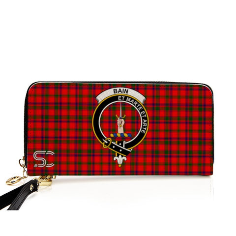 Image of Bain Crest Tartan Zipper Wallet