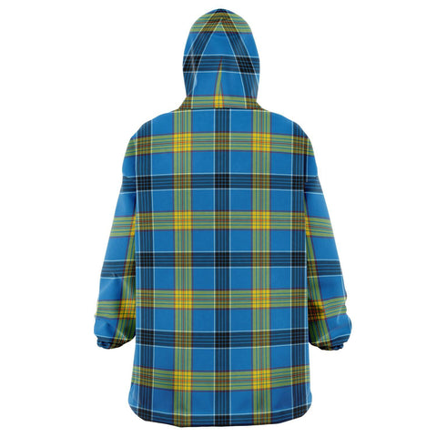 Image of Laing Snug Hoodie - Unisex Tartan Plaid Back