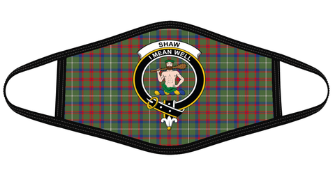 Shaw Green Modern Clan badge Tartan Mask K7