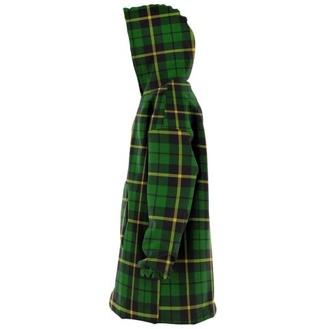 Wallace Hunting - Green Snug Hoodie - Unisex Tartan Plaid Left