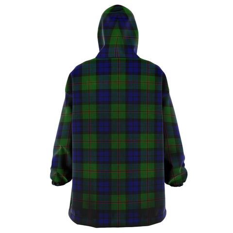 Image of Dundas Modern Snug Hoodie - Unisex Tartan Plaid Back