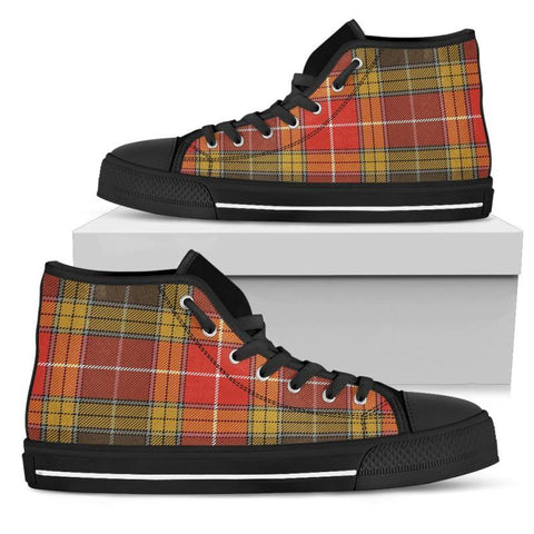 Tartan Canvas Shoes - Buchanan Old Set Weathered High Top | Over 500 Tartans