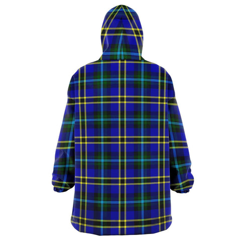 Image of Weir Modern Snug Hoodie - Unisex Tartan Plaid Back