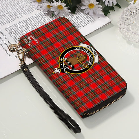 Image of Binning Crest Tartan Zipper Wallet™